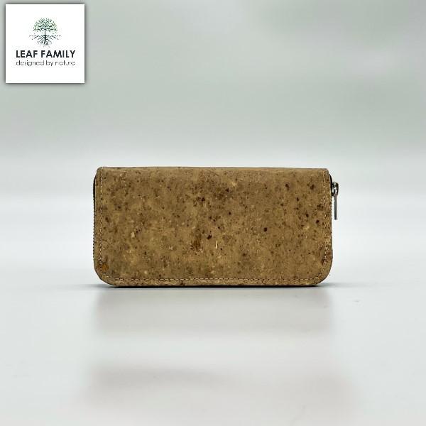 Veganes und nachhaltiges Portemonnaie mit Reissverschluss aus Maulbeerbaum- und Tamarinde