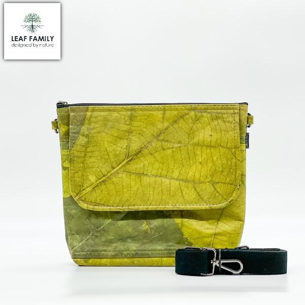 Vegane und nachhaltige Handtasche - mit Stoffträger aus Teakblättern