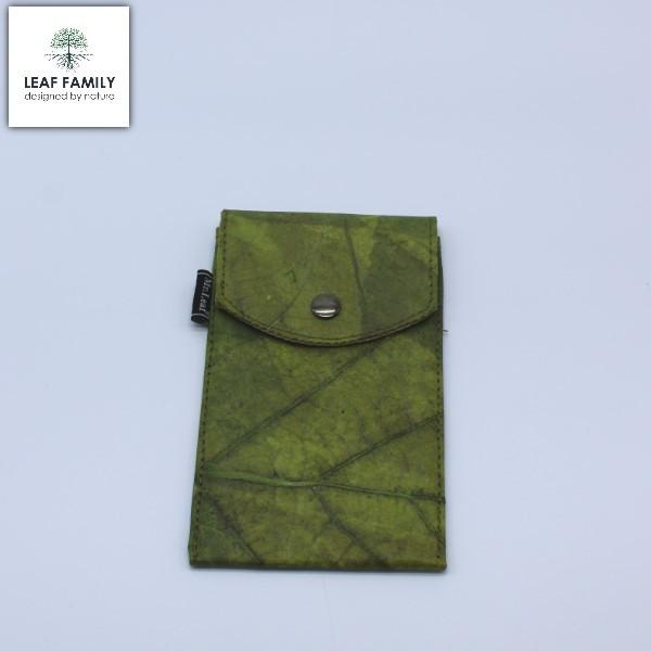 Vegane und nachhaltige Handyhülle und Brillenetui- Tasche für Mobiltelefone aus Teakblatt