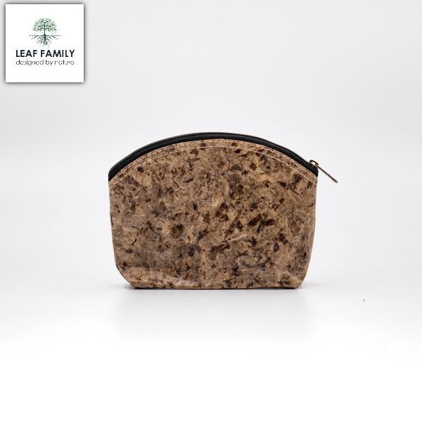 Vegane und nachhaltige Kosmetik-Tasche aus Maulbeerbaumrinde mit Black Garlic oder Tamarind