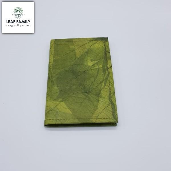 Veganes und nachhaltiges Notiz- und Tagebuch A6 - Hülle aus Teakblatt