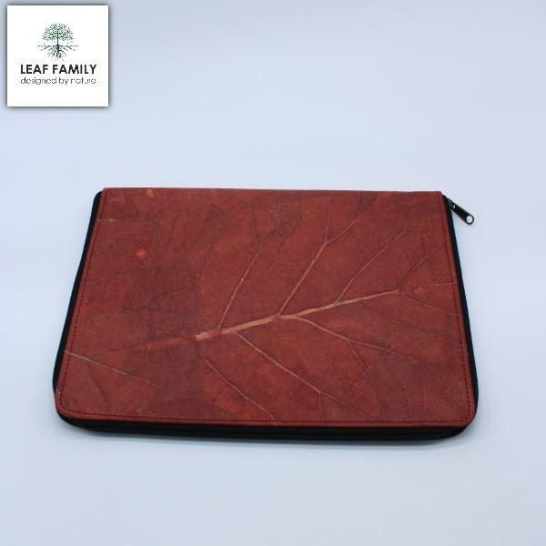 Vegane und nachhaltige Laptop/Arbeitsmappe - Tasche aus Teakblatt