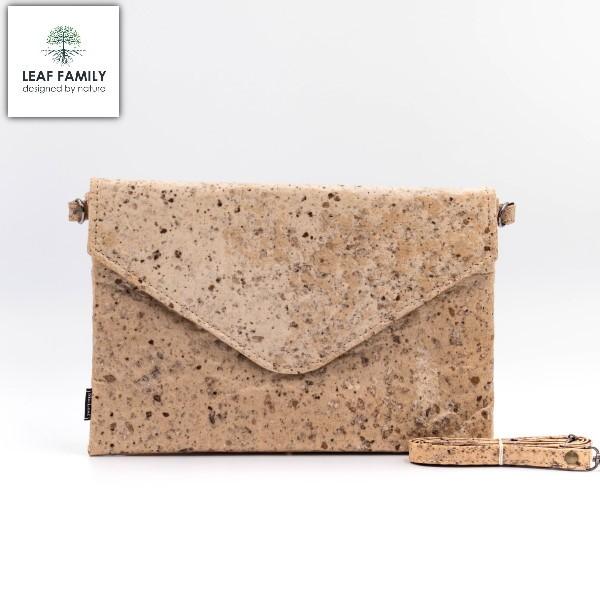 Vegane und nachhaltige Tasche / Clutch groß aus Maulbeerbaumrinde mit Tamarind oder Black Garlic