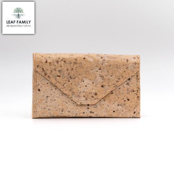 Vegane und nachhaltige Clutch - schmal mit spitzer Lasche aus Maulbeerbaum + Tamarinde