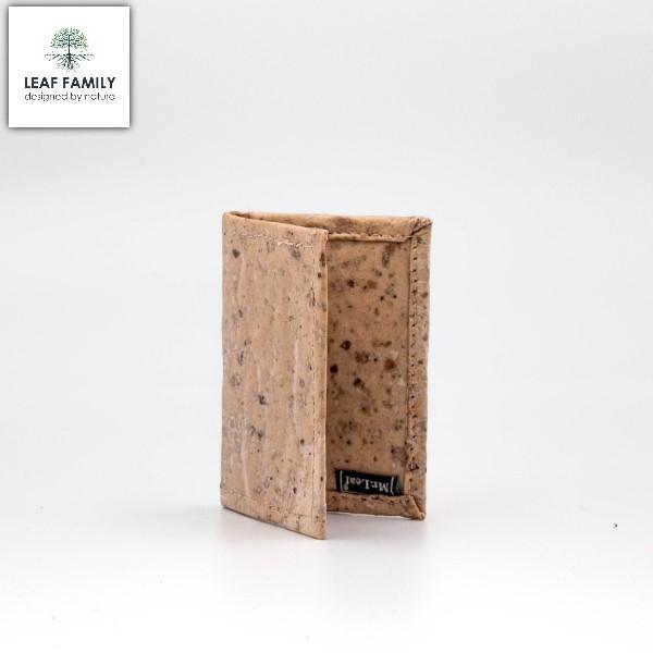 Vegane und nachhaltige Geldbörse bzw. Kreditkartenetui aus Maulbeerbaum- und Tamarinde